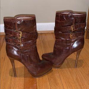 Micheal Kors High heel brown boots